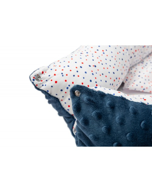 Hniezdo pre bábätko Navy dots