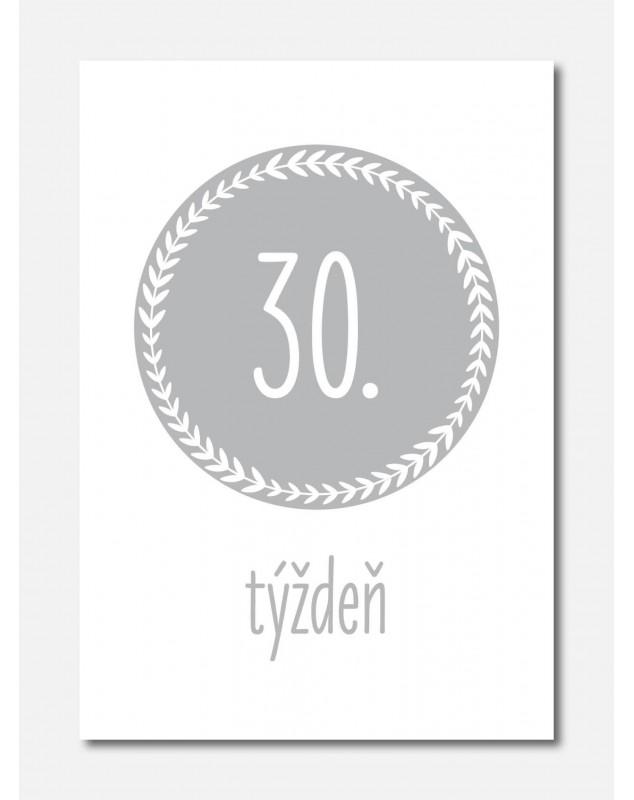 Tehotenské míľnikové kartičky Typografia