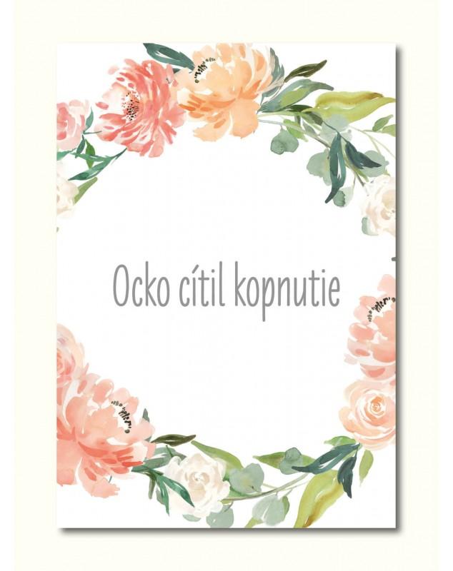 Tehotenské míľnikové kartičky Kvety