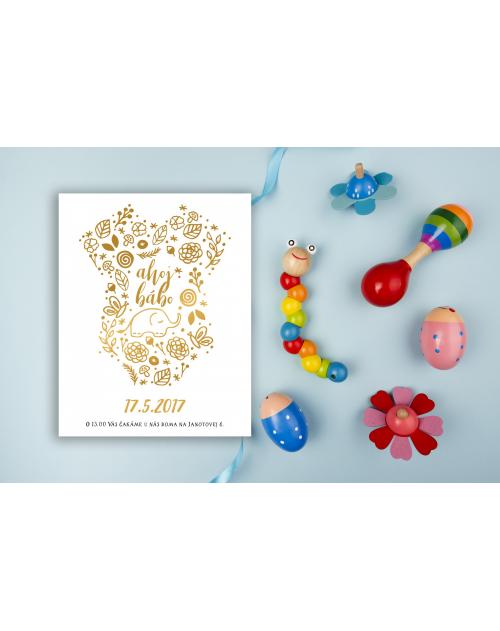 Pozvánka na detskú oslavu alebo baby shower DP9