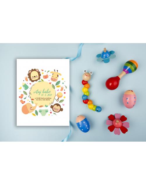 Pozvánka na detskú oslavu alebo baby shower DP10