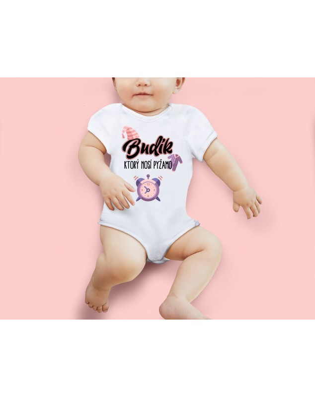 Nádherné Detské body Budík, ktorý nosí pyžamo pre vaše dieťatko