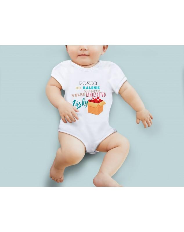Nádherné Detské body Pozor, balenie lásky pre vaše dieťatko