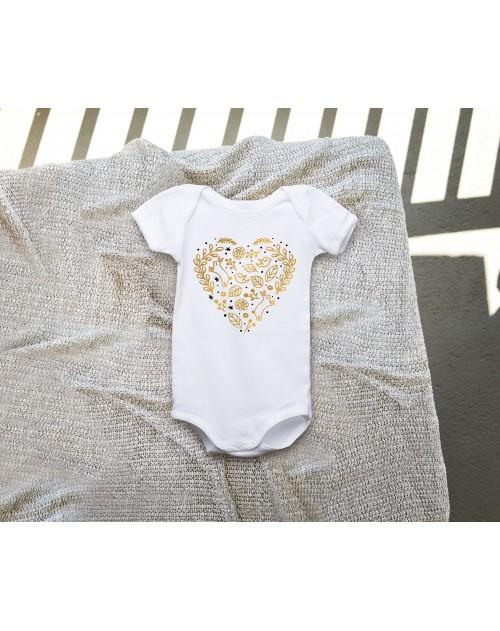 Nádherné Detské body Srdce zlaté pre vaše dieťatko